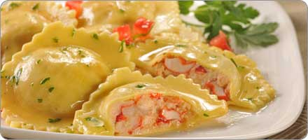 Homemade Whole Wheat Lobster Ravioli - Healthy Recipes
